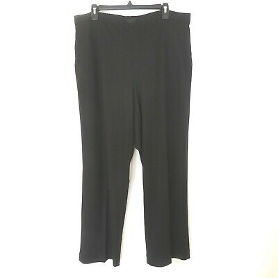 Women's Alfred Dunner Woman Plus Size 18W Black Washable Dress Pants Inseam 29
