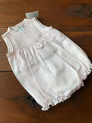 Girls FELTMAN BROTHERS Bros white dress 2T 4T NWT blue bow embroidered 27218
