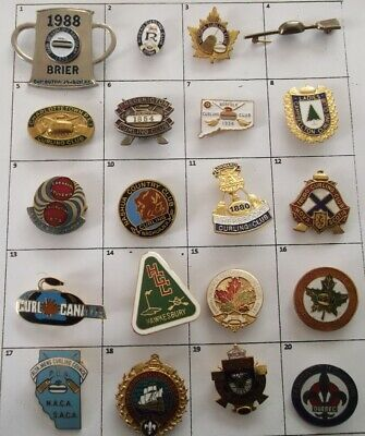 Different Club Championship Bonspiel+ Else Curling Brooch Pin Your Choice # G728