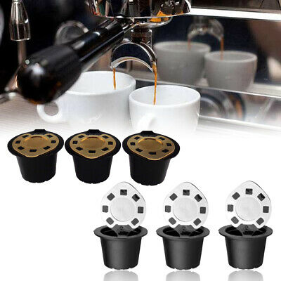 3X Refillable Reusable Coffee Filter Capsule Pods For Nespresso Maker Machine