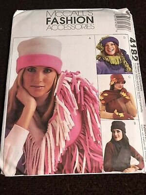 MISSES FLEECE HATS, SCARVES, GLOVES & MITTENS SEWING PATTERN McCalls 4182