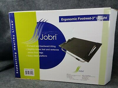 "Jobri Footrest 3"" Ergonomic Office Foot Stand Tilting Angle Adjustable Posture"