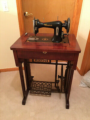 VINTAGE 1939 M16 Minerva PEDDLE Sewing Machine and Stand (LOCAL PICK UP)