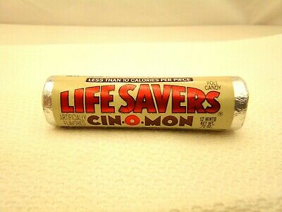Vintage Unopened Roll CIN-O-MON LIFE SAVERS Discontinued Rare 1980's Candy