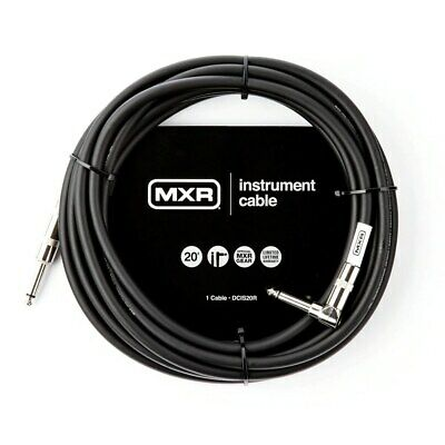 Right Angle End Stereo TRS Instrument Guitar Cable  MXR 20 feet ~6m