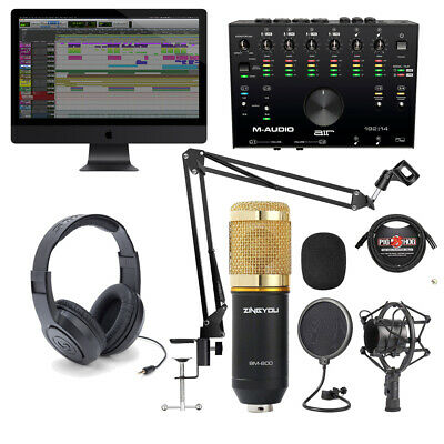 Home Recording M-Audio Air 192-14 Interface with Pro-Tools First Mic Headphones