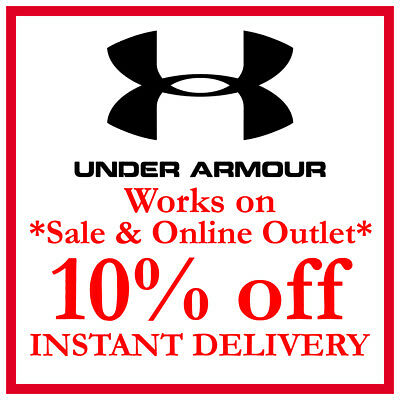 10% OFF Under Armour Promo Code Discount ***WORKS ON SALE & ONLINE OUTLET***