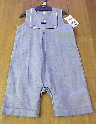 BNWT Baby Boys MOTHERCARE Heritage All-In-One Suit - Up To 1 Month - RRP £16.50
