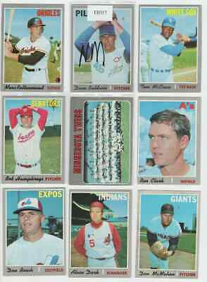 1970 Topps Baseball 17 Card Lot w/ Mid-High #'s 613, 629 VG-EX FREE S&H