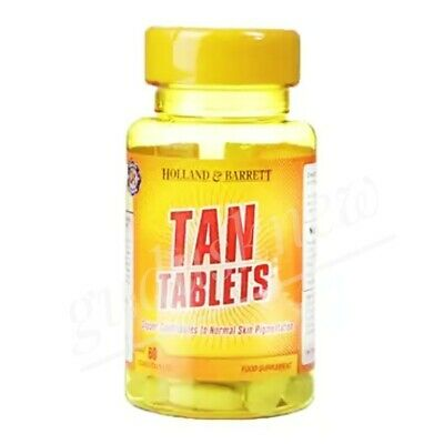 60 Tanning Pills / Tablets Fast Beautiful Natural Bronze Skin Tan Without Sun