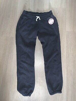 girls black converse tracksuit bottoms joggers with pockets age 10-12 years