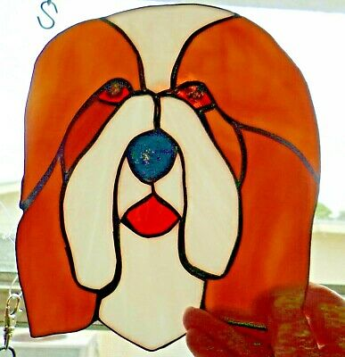 Stained Glass - Dog - Bearded Collie - Tan