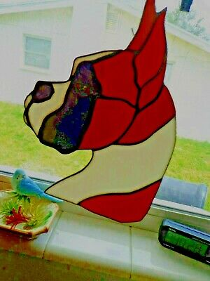 Stained Glass Dog - Boxer - Fawn