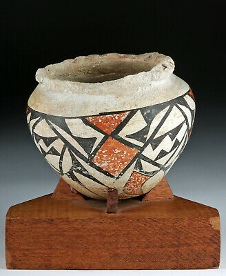 Charming Early Acoma Polychrome Vessel