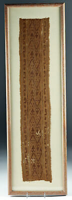 Framed Chimu Textile Fragment