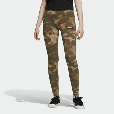 Adidas Originals Women's ALLOVER PRINT TIGHTS Hemp/Earth Green EC0759 d