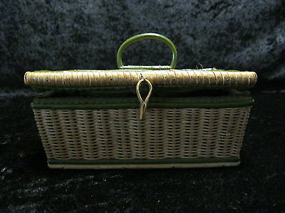 Antique Biedermeier Sewing Basket Box Trachtenkorb - Braided - around 1870