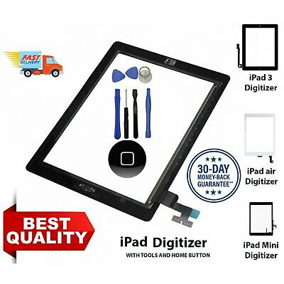 Touch Screen Replacement Digitizer Front Glass display For iPad 2/3/4/5 Air