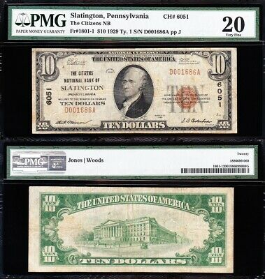 """/<UNC.GEM/>1878 SERIES /""""GOLD DOLLAR/"""" 1ST NATIONAL BANK Rep.* Banknote~GREAT DETAIL"""