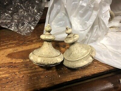 "PR vintage 19th century VICTORIAN gingerbread FINIAL drops 3"" h x 3.25"" diameter"