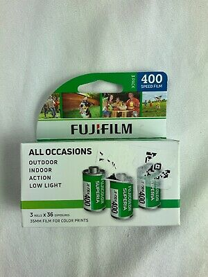 3 Pack Fuji Superia X-TRA ISO 400 36 Exp. 35mm Color Film 108 Exposures Z68