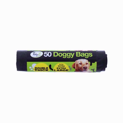 Doggy Poo Bags Dog Puppy Waste 50x Tidyz Large Double Thick Strong Tie Handles