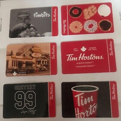 Tim Hortons Gift Cards - Complete Set of 6