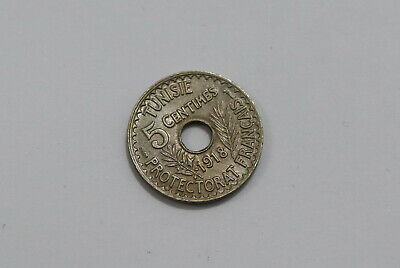 Tunisia 5 Centimes 1918 High Grade B25 #Z497