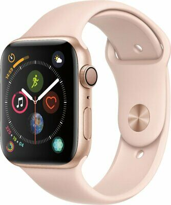Apple Watch Series 4 40mm Gold Aluminum Case with Pink Sport Band (GPS)