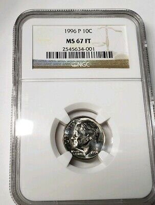 1996 W ROOSEVELT DIME NGC MS65 FT FULL TORCH # 21OF 100 GREATEST US MODERN COINS