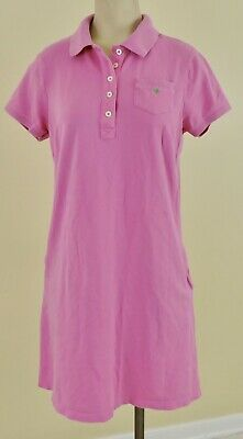 LILLY PULITZER Womens Sz Small Pink Cotton Pique Short Sleeve Pocket Polo Dress