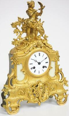 Antique French Bell Striking Mantel Clock Bronze Ormolu 8 Day Mantel Clock C1830