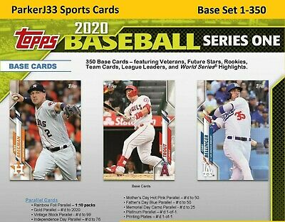 2020 Topps Series 1 Base Set  (LIVE!) Cards 1-350