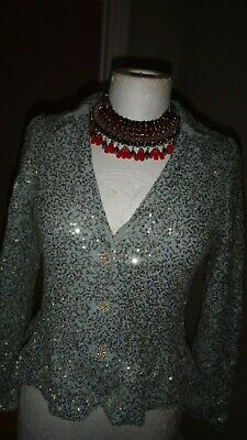 Monsoon Girls SHEENA SEQUIN Gorgeous Jacket Duck Egg Age 12-13 Years