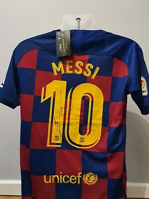 Lionel Messi Signed FC Barcelona 2019-20 Home Shirt Autograph Jersey COA & PROOF