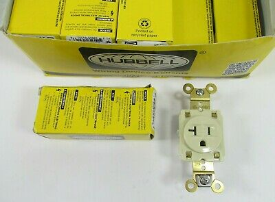 Lot of 9 - HUBBELL HBL5361I SINGLE RECEPTACLES
