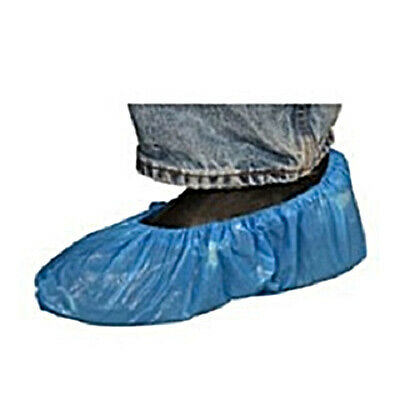 Radnor X-Large Blue Polyethylene Disposable Shoe Covers RAD64055335 (100 Pieces)