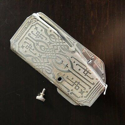 Original Singer Featherweight 221 221K Scroll Face Plate With Screw