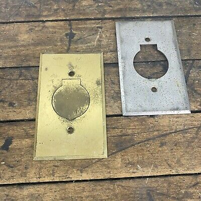 Vintage Bryant Brass Electric Outlet Plate Cover with Hinged Lid B3