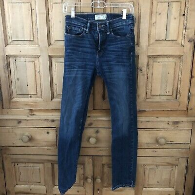 EUC!!! A&F Abercrombie and Fitch Boys Straight Leg Jeans Size 15/16 Dark Wash
