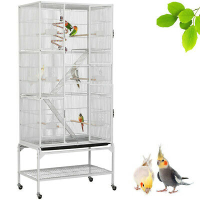 Volière Cage à Oiseaux Canaries Perruches Perroquets Madarin Cage Lapin Rongeur