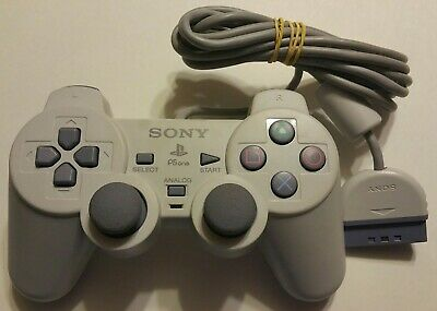 Official Sony PlayStation 1 PSOne PS1 Grey DualShock Controller SCPH-1200