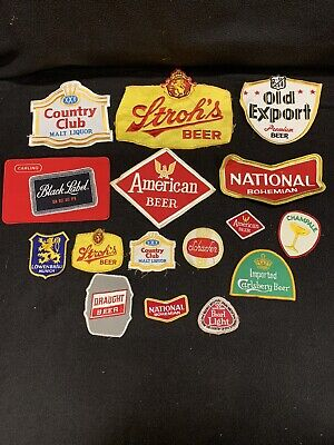 Large Mixed Lot Of Beer Shirt/uniform Patches