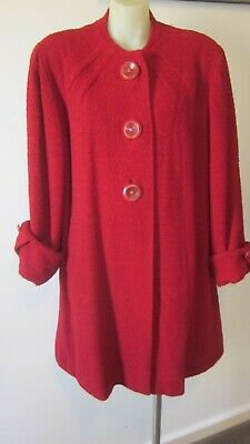 1950,s fab orig.vint. red wool coat .16.Union Made