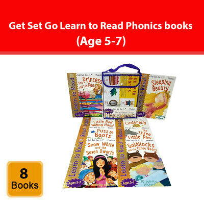 Get Set Go Learn to Read Phonics 8 Books Collection Set with 70 Activity Sticker