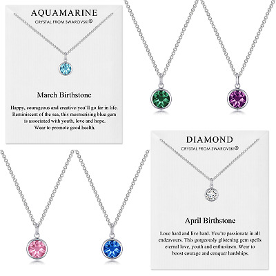 Birthstone Necklaces Created with Crystals from Swarovski® by Philip Jones