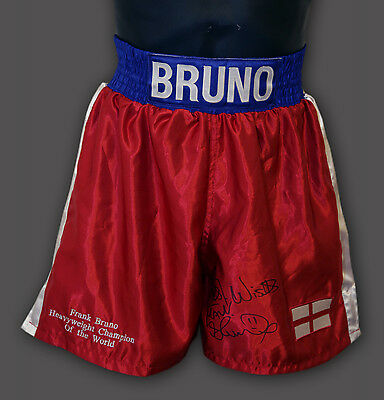 Frank Bruno Hand Signed Custom Made Boxing Trunks : A