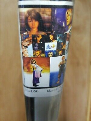 Final Fantasy X CHARACTER Wall Scroll 30X42 NEW SEALED CLOUD