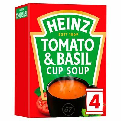 Heinz Cream of Tomato with a Hint of Basil Dry Cup Soup 4 x 22g