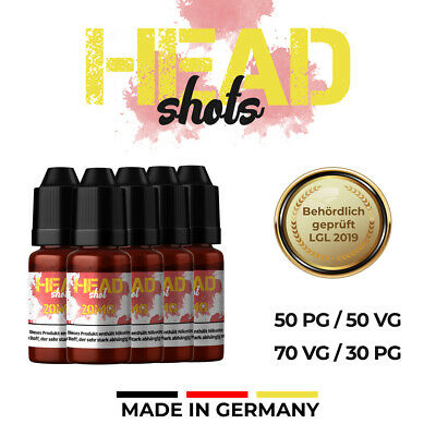 Nikotin Shots 20mg  30 50 120x 10ml Shot Base für e Liquid 50/50 70/30 HEADSHOT